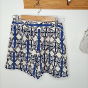 Oroton 100% Silk Dress Shorts Culottes Cocktail Pa